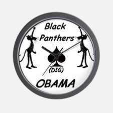 Black Panthers Dig Obama Wall Clock