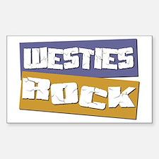 Westies ROCK Rectangle Decal