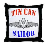 Tin Can Sailor Throw Pillow
