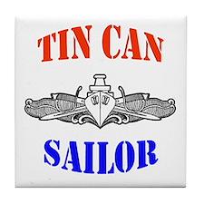 Tin Can Sailor Tile Coaster