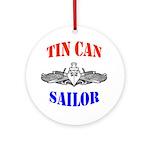 Tin Can Sailor Ornament (Round)