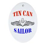Tin Can Sailor Oval Ornament