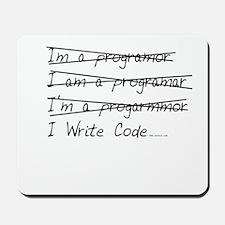I Write Code Mousepad
