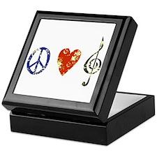 Peace, Luv, Music D Keepsake Box