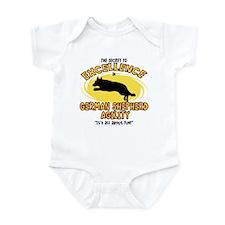Secret German Shepherd Agility Infant Bodysuit