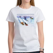 Sledding Dachshunds Tee