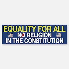 Equality For All Bumper Bumper Bumper Sticker