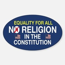 Equality For All Oval Decal