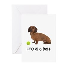 Dachshund Life Greeting Cards (Pk of 10)