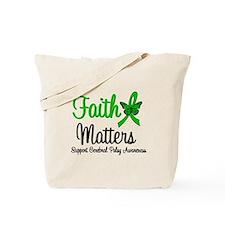 Cerebral Palsy FaithMatters Tote Bag