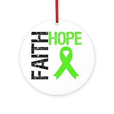 Lymphoma Faith Hope Ornament (Round)