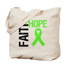 Lymphoma Faith Hope Tote Bag