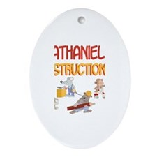 Nathaniel's Construction Co. Oval Ornament