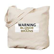 Blonde with Brains Tote Bag