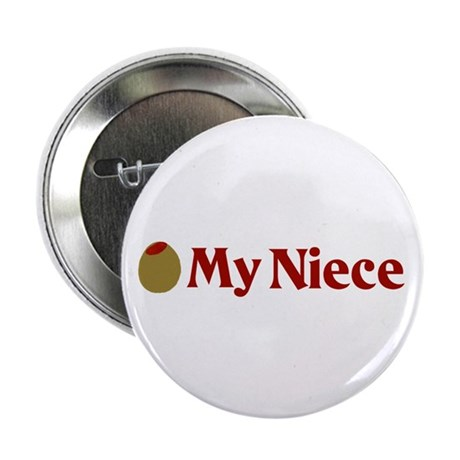 """Olive (I Love) My Niece 2.25"""" Button (100 pack)"""