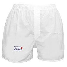 Cute Everyone loves Boxer Shorts