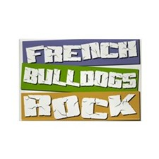 French Bulldogs ROCK Rectangle Magnet