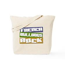 French Bulldogs ROCK Tote Bag