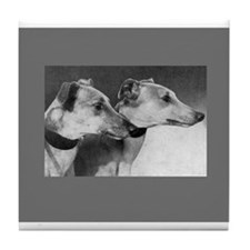 Black & White Greyhound Photo Tile Coaster