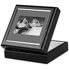 Black & White Greyhound Photo Keepsake Box