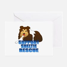 Support Sheltie Rescue Greeting Card