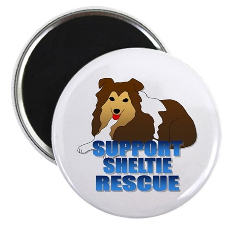 """Support Sheltie Rescue 2.25"""" Magnet (10 pack)"""