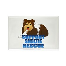 Support Sheltie Rescue Rectangle Magnet