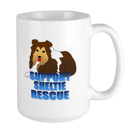 Support Sheltie Rescue Large Mug