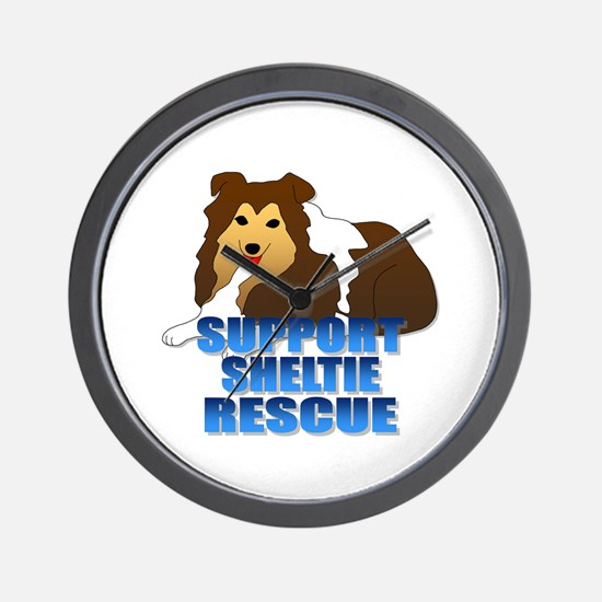 Support Sheltie Rescue Wall Clock