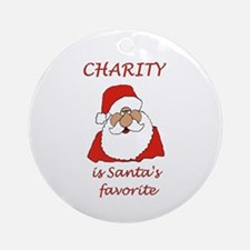 Charity Christmas Ornament (Round)