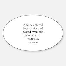 MATTHEW 9:1 Oval Decal