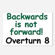 Backward is not forward No on 8 Postcards (Package