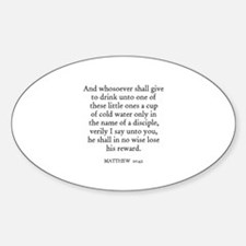MATTHEW 10:42 Oval Decal