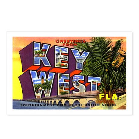 Key West Florida Greetings Postcards (Package of 8