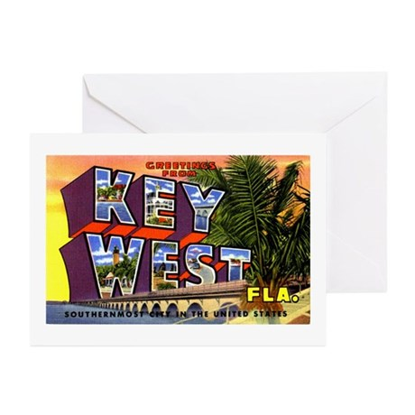 Key West Florida Greetings Greeting Cards (Pk of 2
