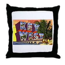 Key West Florida Greetings Throw Pillow