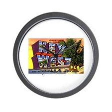 Key West Florida Greetings Wall Clock