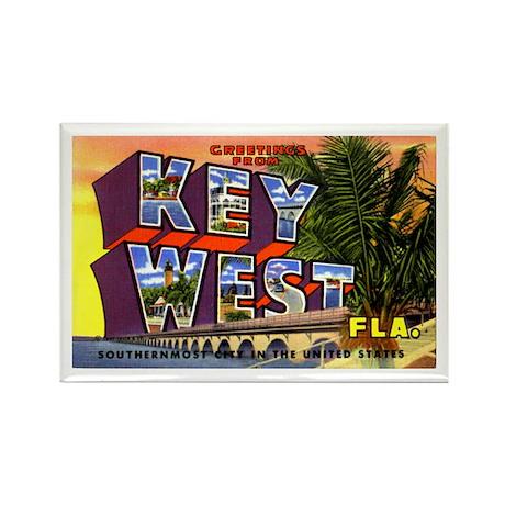 Key West Florida Greetings Rectangle Magnet