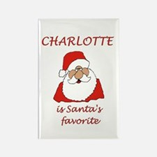 Charlotte Christmas Rectangle Magnet