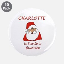 """Charlotte Christmas 3.5"""" Button (10 pack)"""