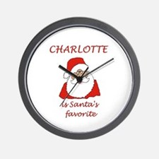 Charlotte Christmas Wall Clock