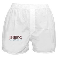 Progress, not perfection Boxer Shorts