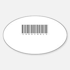 Cardinals Oval Sticker (10 pk)