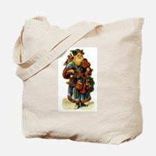 Vintage Santa with violin Tote Bag