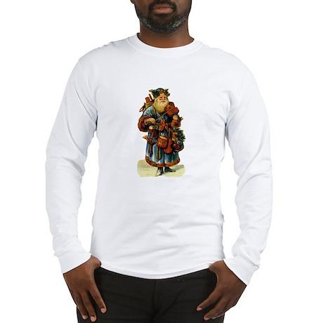 Vintage Santa with violin Long Sleeve T-Shirt