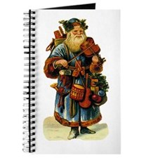 Vintage Santa with violin Journal
