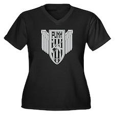 Punk Ensignia Women's Plus Size V-Neck Dark T-Shir
