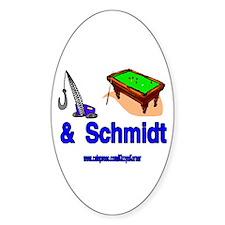 CRANEPOOLSCHMIDT2 Oval Bumper Stickers