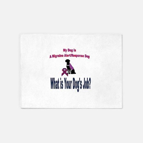 I'm a migraine Alert/ Response Dog 5'x7'Area Rug