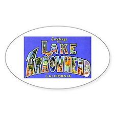 Lake Arrowhead California Greetings Oval Bumper Stickers